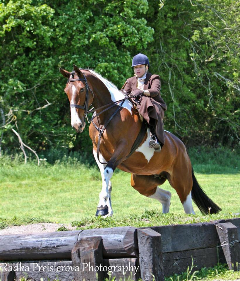 Verity O'Mahoney jumping for the first time