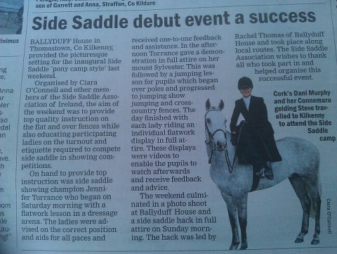 Side saddle Debut event a sucess
